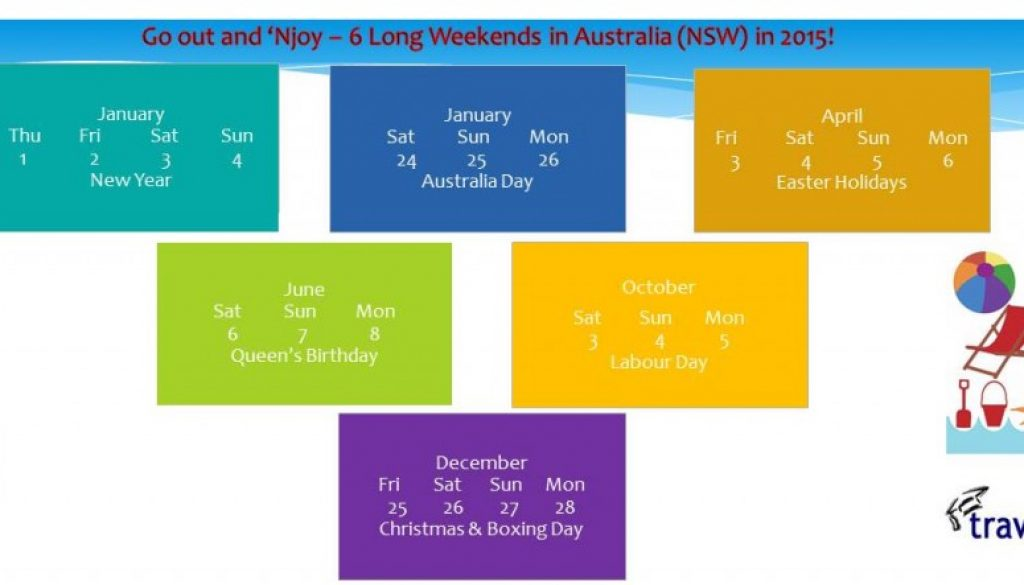 Australia Long Weekends